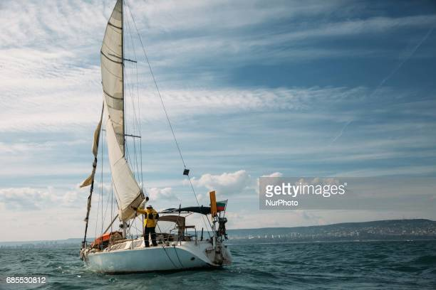 Bulgarian sailor Dr Vasil Kurtev returned to the port of Varna Bulgaria on May 17 2017 after achieving his lifetime goal of circumnavigating the...