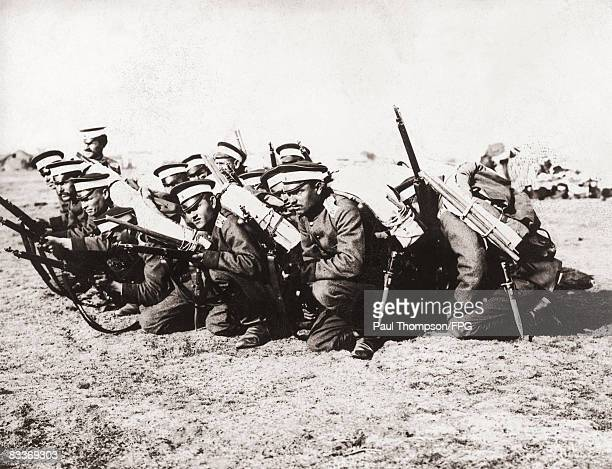 Bulgarian soldiers of the 101st Infantry Division during World War I circa 1915