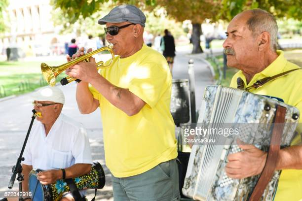 bulgarian street musicians - folk music stock pictures, royalty-free photos & images