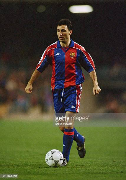 Bulgarian striker Hristo Stoichkov playing for the Spanish club FC Barcelona late 1990s