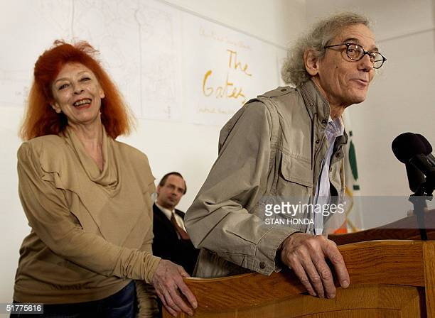 Bulgarianborn American artist Christo and his wife Frenchborn American JeanneClaude announce details of their collaborative project The Gates Central...
