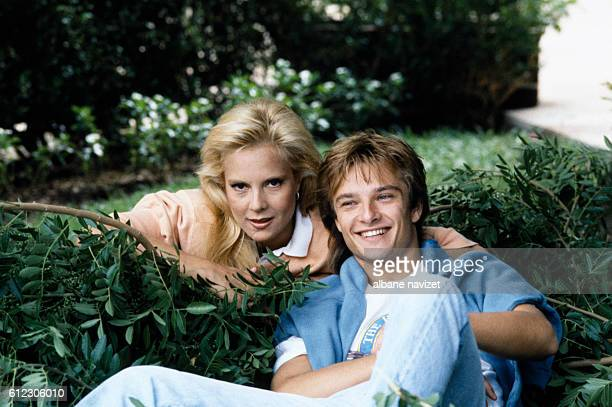 Bulgarian-born French singer Sylvie Vartan and her son David Hallyday in their Los Angeles home.
