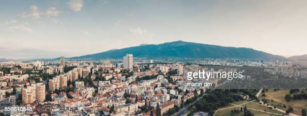 bulgaria,panoramic view - sofia stock pictures, royalty-free photos & images