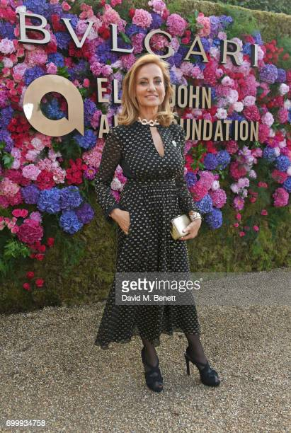 Bulgari's creative director Lucia Silvestri attends the Woodside Gallery Dinner in benefit of Elton John AIDS Foundation in partnership with BVLGARI...