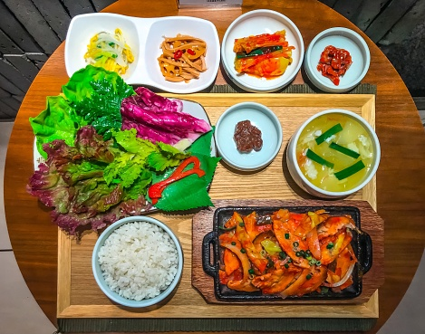 Bulgogi meal set, deluxe Korean cuisine food model - gettyimageskorea