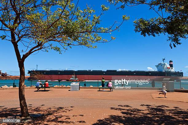 Bulk carrier in the port Port Hedland is the highest tonnage port in Australia It is a natural deep anchorage port which as well as being the main...
