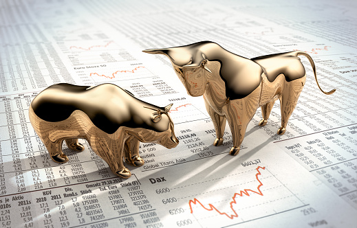 Bull and Bear on stock market prices 1155610132