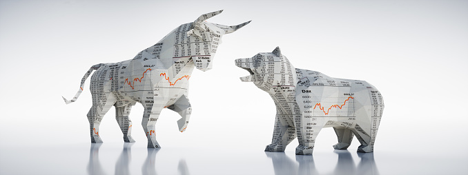 Bull and Bear-Concept Stock Exchange and Stock Market 1155675467
