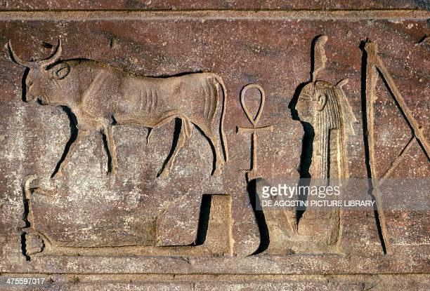 Bull basrelief Temple of Amun Luxor Egyptian civilisation