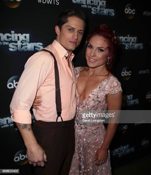 Bull rider Bonner Bolton and dancer Sharna Burgess attend 'Dancing with the Stars' Season 24 at CBS Televison City on March 27 2017 in Los Angeles...