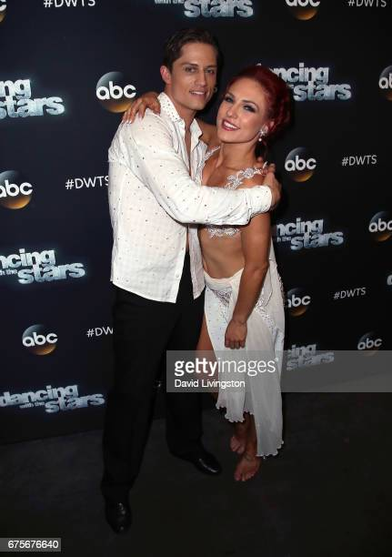 Bull rider Bonner Bolton and dancer Sharna Burgess attend 'Dancing with the Stars' Season 24 at CBS Televison City on May 1 2017 in Los Angeles...