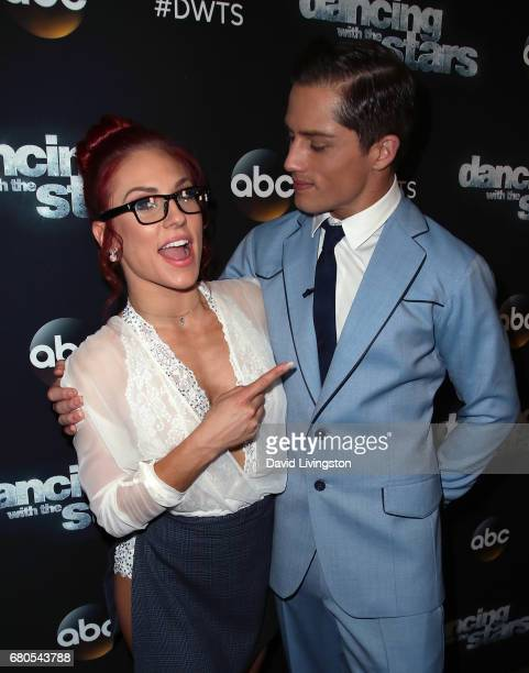 Bull rider Bonner Bolton and dancer Sharna Burgess attend 'Dancing with the Stars' Season 24 at CBS Televison City on May 8 2017 in Los Angeles...