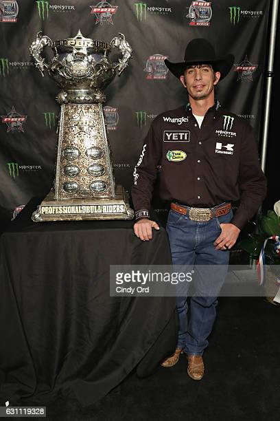 Bull Rider JB Mauney attends the 2017 Professional Bull Riders Monster Energy Buck Off at the Garden at Madison Square Garden on January 6 2017 in...