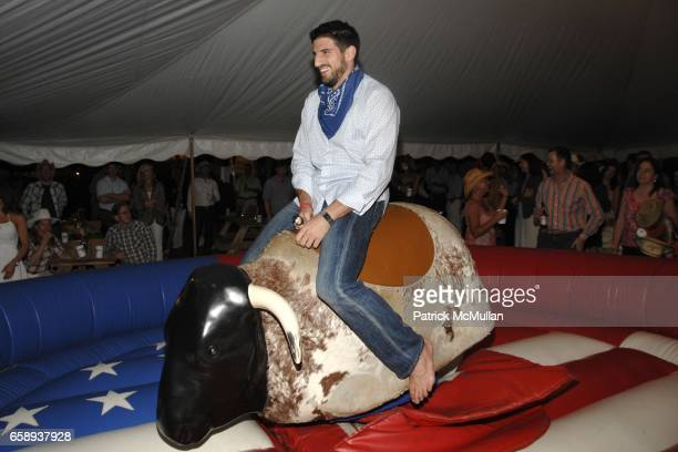 Bull Riding attends HAMPTONS HOEDOWN Hosted by The DORRIAN and TASHJIAN Families at Private Residance on August 8 2009 in East Hampton NY