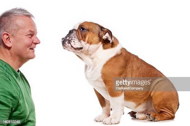 Bulldog and His Master