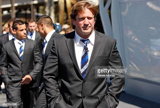 Bulldogs coach Des Hasler arrives at the 2014 NRL Grand Final lunch at The Star on October 2 2014 in Sydney Australia