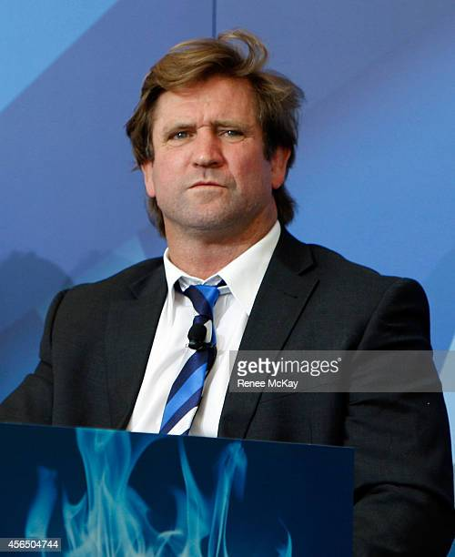 Bulldogs coach Des Hasler looks on during the 2014 NRL Grand Final lunch at The Star on October 2 2014 in Sydney Australia