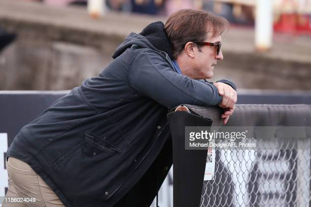 Bulldogs head coach Luke Beveridge looks on during the round 11 VFL match between the Northern Blues and Footscray Bulldogs at Ikon Park on June 15...