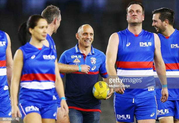 Bulldogs legend Tony Liberatore is seen at a corporate match before the round eight AFL match between the Western Bulldogs and the Brisbane Lions at...
