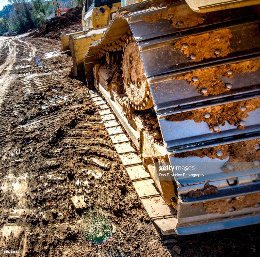 Bulldozer at Construction Site : Stock Photo