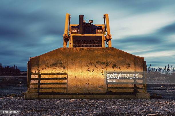 Bulldozer in Twilight