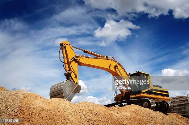 bulldozer - baumaschine stock-fotos und bilder