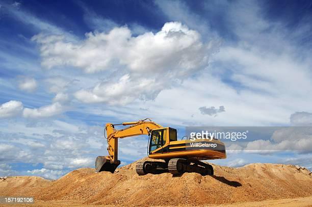 bulldozer - excavator stock photos and pictures