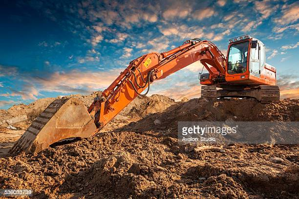 bulldozer - excavator stock photos and pictures