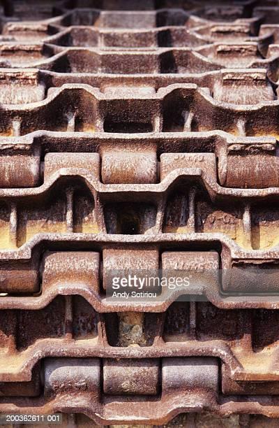 Bulldozer track, NYC, USA, close-up