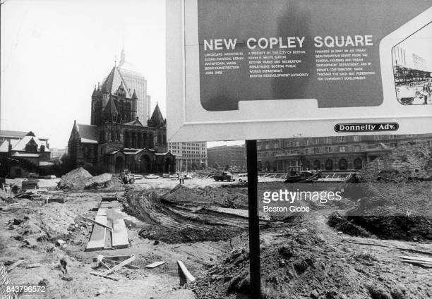 Bulldozers begin clearing the land for the new Copley Square in Boston on Aug 15 1971