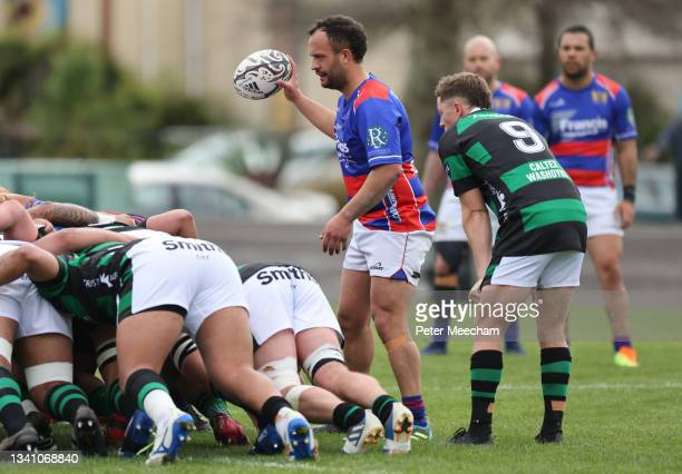 Buller halfback Thor Manawatu during the round one Heartland Championship match between Buller and South Canterbury at , on September 18 in Westport,...