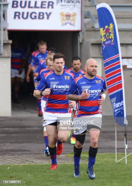 Buller players take sthe field led by Jesse Pitman-Joass during the round one Heartland Championship match between Buller and South Canterbury at ,...
