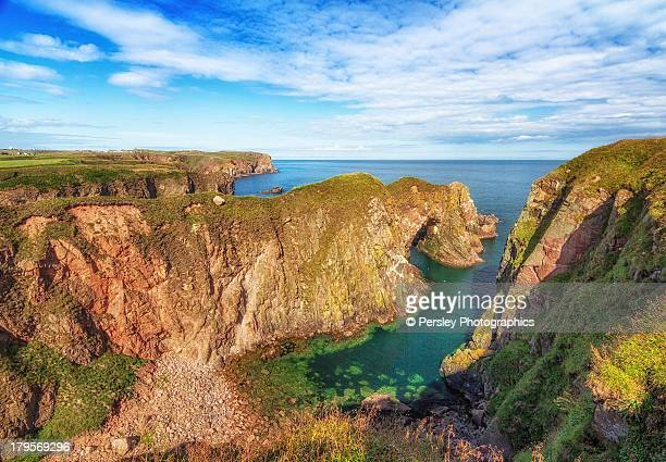 bullers of buchan, aberdeenshire - aberdeenshire stock pictures, royalty-free photos & images