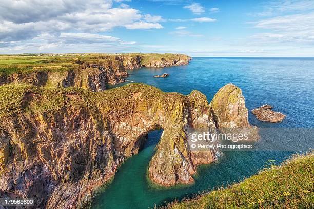 bullers of buchan - aberdeenshire stock pictures, royalty-free photos & images