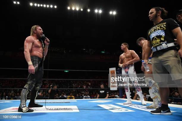 Bullet Club Elite during the King of ProWresting at Ryogoku Kokugikan on October 8 2018 in Tokyo Japan
