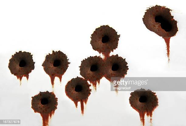 agujeros de bala - agujero de bala fotografías e imágenes de stock