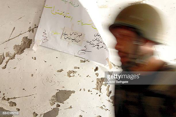 Bullet marks scar the walls of the District Center building in Barge Matal Nuristan province
