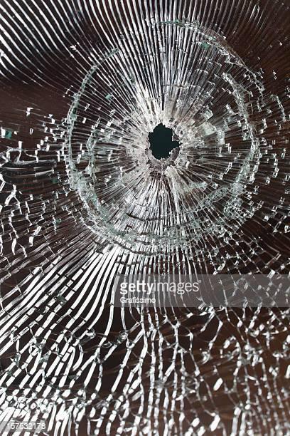 Bullet Aufnahme auf Defekte Fenster