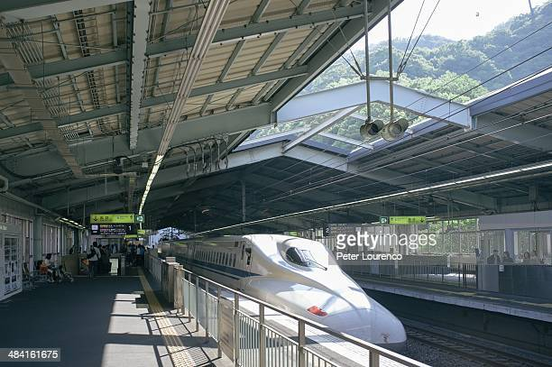 Bullet train leaving shinKobe station