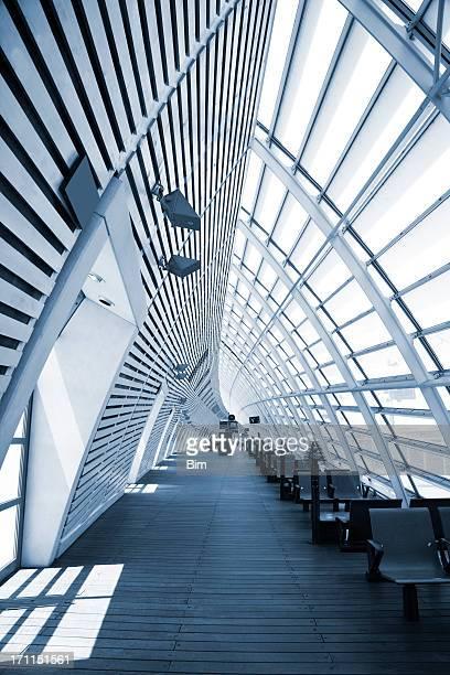 Bullet Train Station Interior