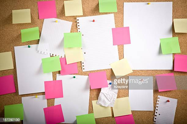bulletin board - bulletin board stock pictures, royalty-free photos & images