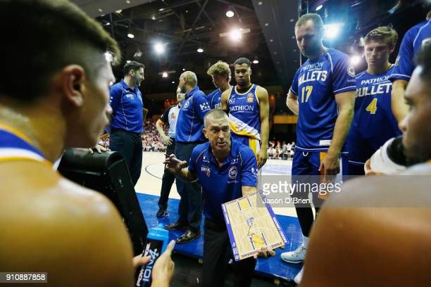 Bullets coach Andrej Lemanis during the round 16 NBL match between the Brisbane Bullets and the Adelaide 36ers at Brisbane Convention Exhibition...