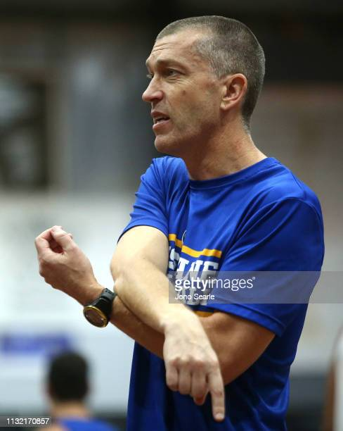 Bullets Coach Andrej Lemanis looks on during a training session on February 26 2019 in Brisbane Australia
