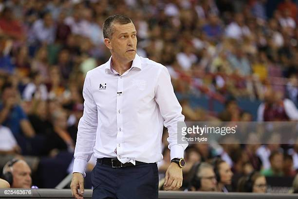 Bullets coach Andrej Lemanis looks on during the round eight NBL match between the Brisbane Bullets and the Adelaide 36ers at the Brisbane...