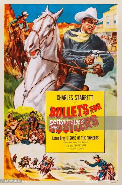 Bullets For Rustlers poster US poster from left Lorna Gray Charles Starrett 1940