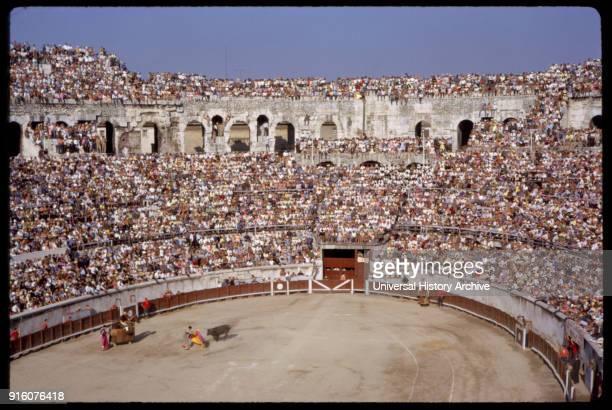 Bullfight and Arena Nimes France 1961