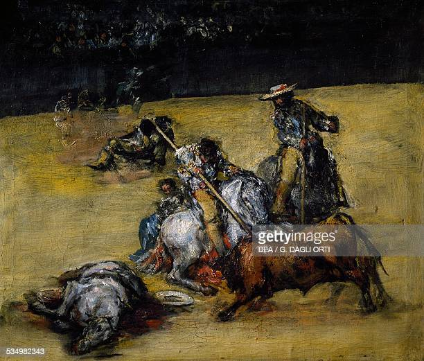 Bullfight ca 1825 by Francisco de Goya oil on canvas 38x46 cm Spain 19th century Madrid Museo Del Prado