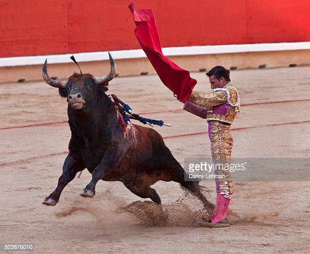 Bullfight during the festival of San Fermin