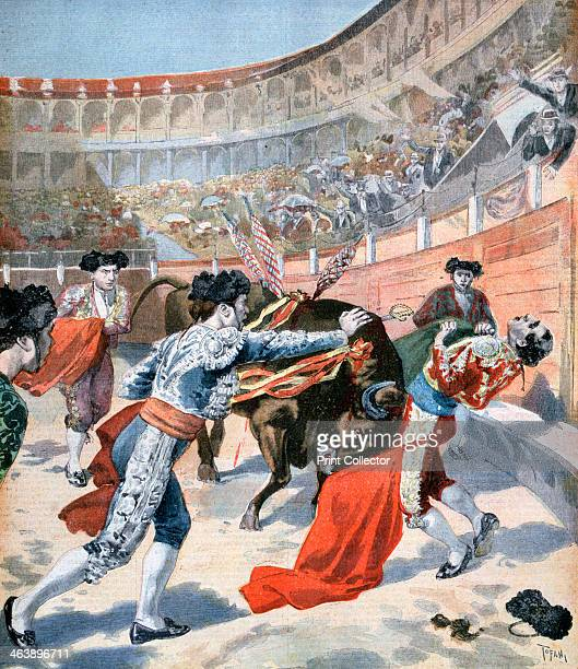 Bullfight in Madrid Spain 1894 A print from the Le Petit Journal 11th June 1894