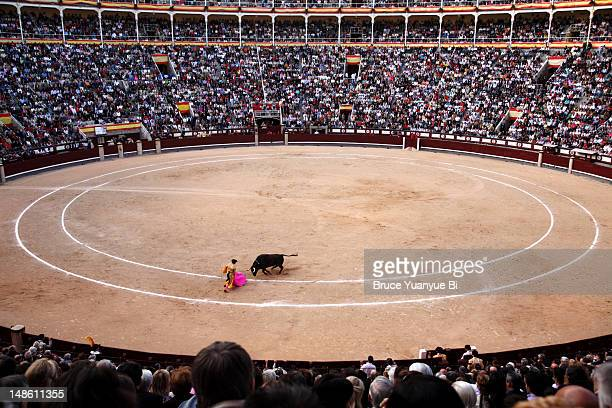 Bullfight in Plaza de Toros de las Ventas.